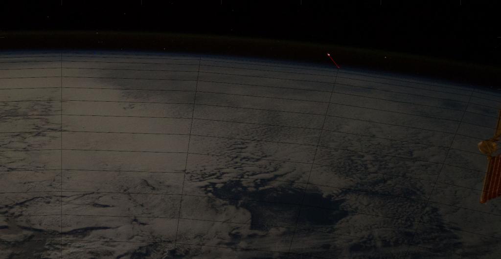 Screen Shot from video of meteoroid 2017-11-09 at 6.19.38 PM credit: ESA/NASA