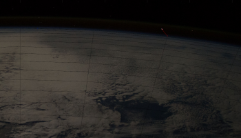 Screen Shot from video of meteoroid 2017-11-09 at 6.19.38 PM credit: ESA/NASA