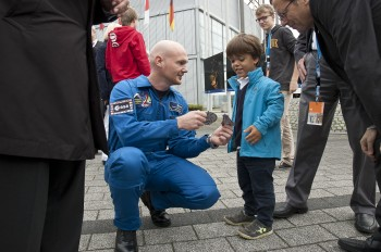 During German Space days 2013. Credit: DLR