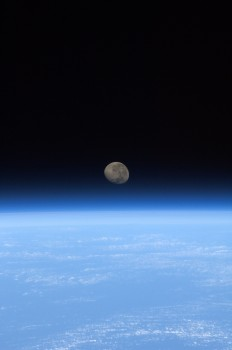 Space Moonset by Luca Parmitano. Credit: ESA/NASA