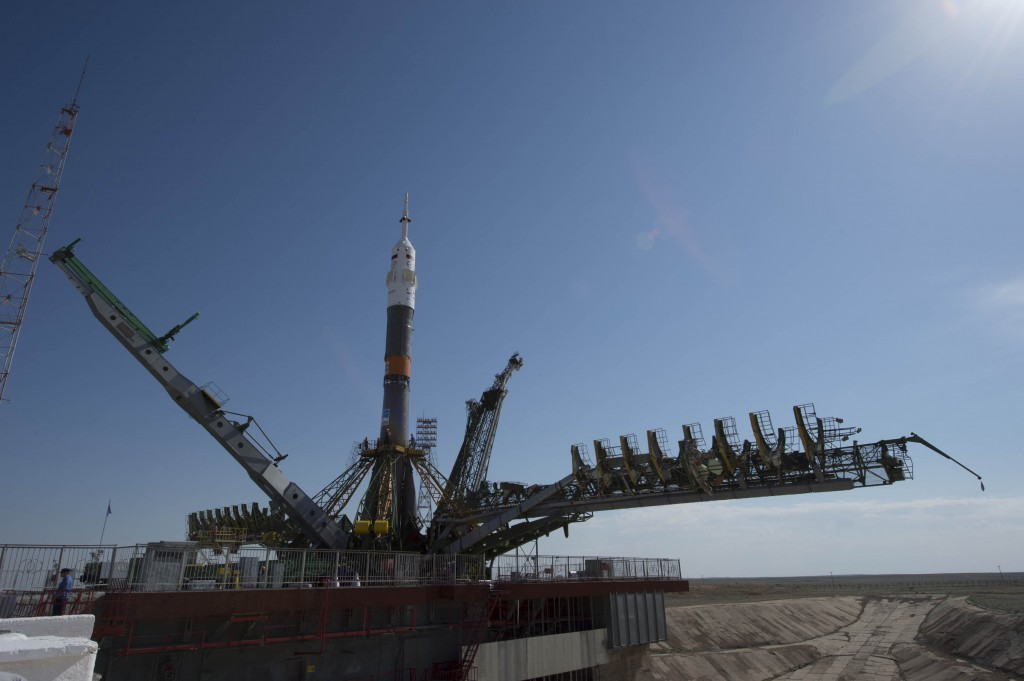 Our Soyuz ready for action tomorrow.