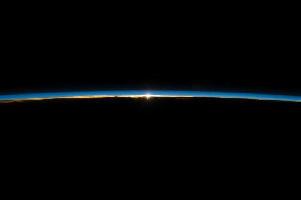 Space sunset. Credits: ESA/NASA