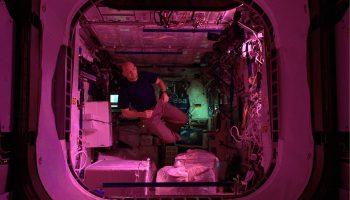 Alexander in Columbus module. Credits: ESA/NASA