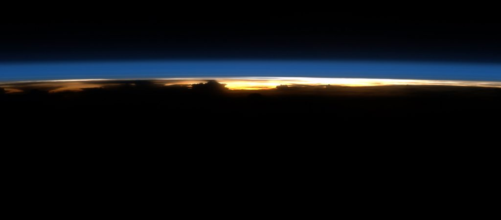 Orbital sunrise. Credits: ESA/NASA