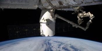 Installing Rapidscat. Credits: ESA/NASA