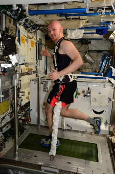 Exercise against weightlessness. Credits: ESA/NASA