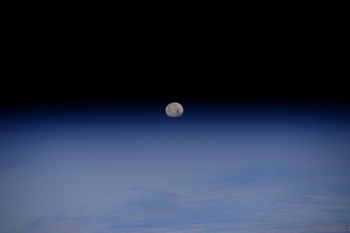Moonset over Alaska. Credits: ESA/NASA–Alexander Gerst