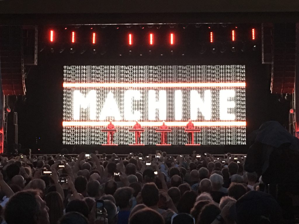 Kraftwerk and the ISS at Jazz Open Stuttgart, shortly before the call with ESA astronaut Alexander Gerst. Credit: ESA, M. Trovatello