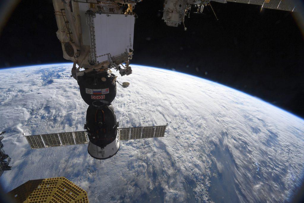The Soyuz MS-09 crew spacecraft. Image: ESA, A. Gerst