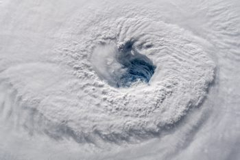 Eye of the storm. Credits: ESA/NASA–A. Gerst