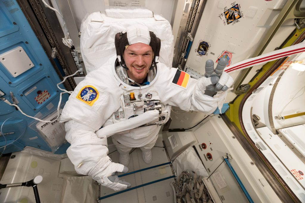 Suit check for Alexander. Credits: ESA/NASA