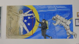 The painting on the NBL control room