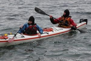 Back into the kayak.