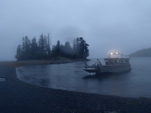 Boat coming to pick us up. I'll be a bumpy ride!