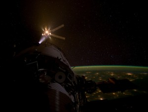ATV-3 approaches ISS for docking (Credit: NASA)