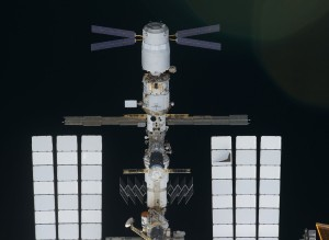ATV docked to the ISS (Credit: NASA)