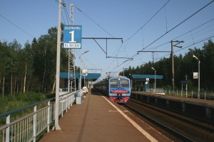 The электричка, slang for electrical train.