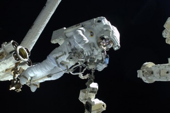 ESA astronaut Luca Parmitano on his spacewalk in 2012. The SAFER is worn on the back. Credit: ESA/NASA