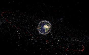 Artist's impression of space debris. Credit: ESA