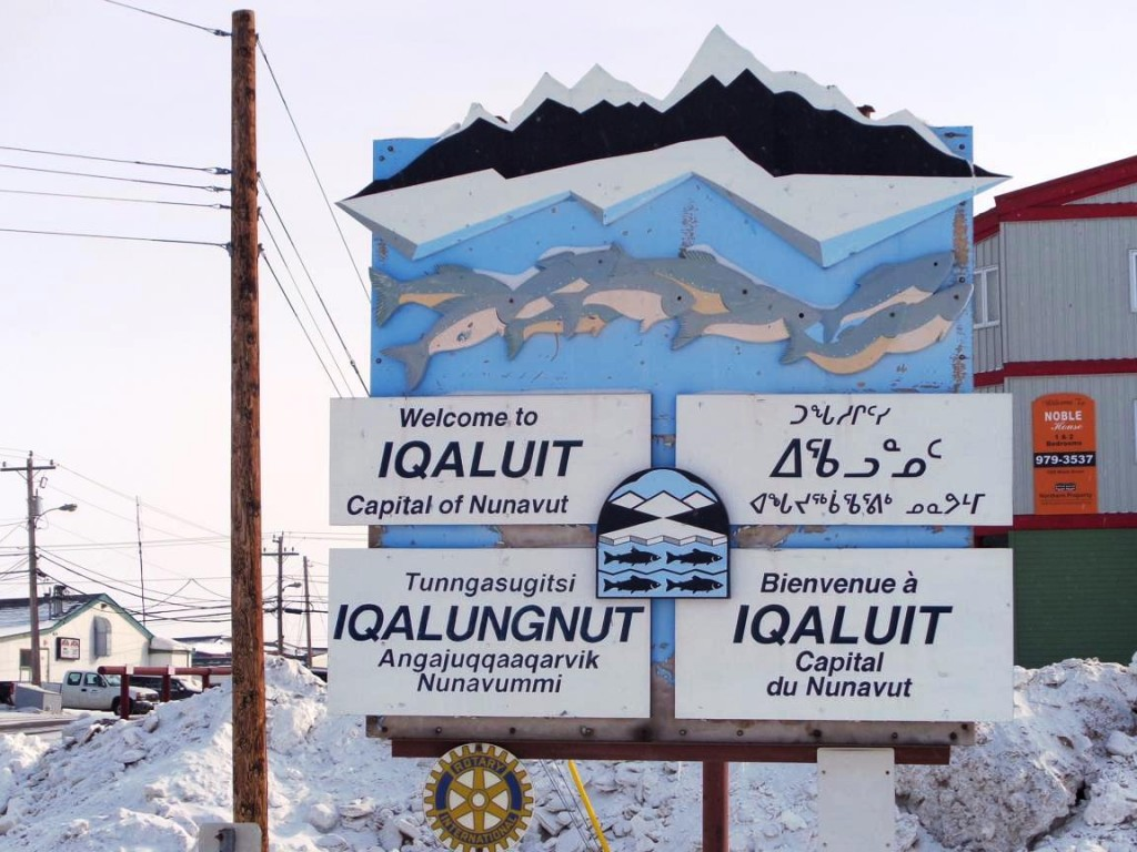 Iqualit, Baffin Island, is the capital of Nunavut territory in Canada (M. Drinkwater–ESA).