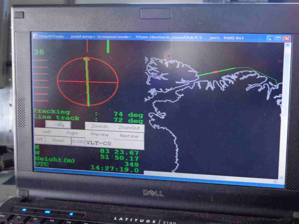 TF-POF flight plan plotted on the display of the computer guidance system. (Courtesy Mark Drinkwater, ESA)