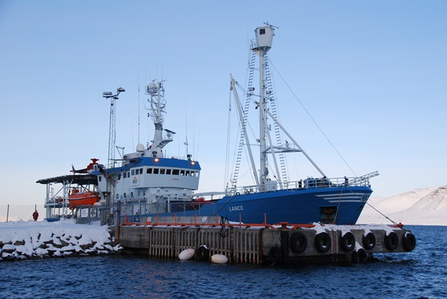 RV Lancein the harbor at Longyearbyen, Svalbard. (ESA)