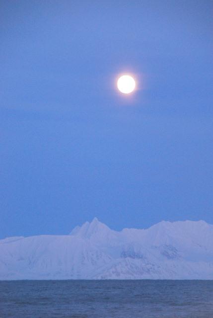The moon is rising over Sørkapp-Land. (ESA–M. Drusch)
