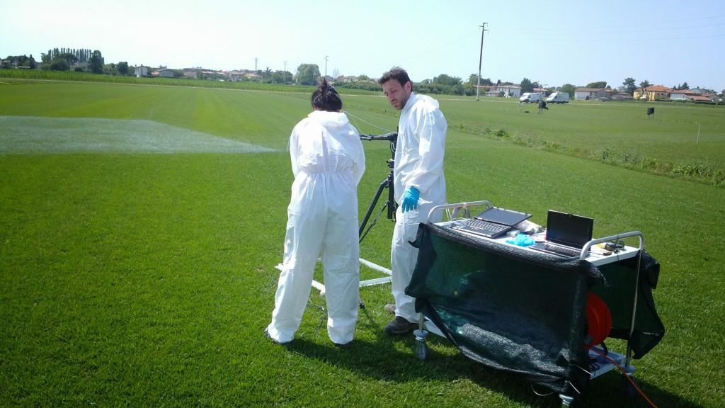 Micol Rossini and Marco Celesti from University of Milan preparing ground activities. (ESA–Dirk Schüttemeyer)
