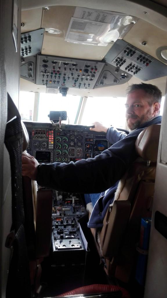 Pilot preparing to take off. (ESA)
