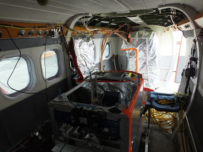 Twin Otter aircraft with science equipment (PolarGAP)