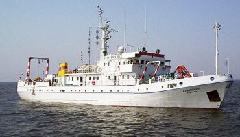 Bulgarian Academy of Sciences' research vessel. (JRC)