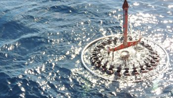 Conductivity, temperature and depth sampling in the sunlit blue waters of the Gyre. (PML)