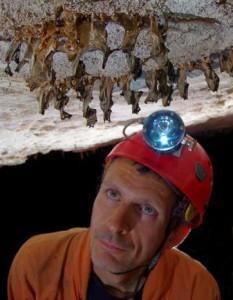 Jo De Waele in Imawari Yeuta Cave, Venezuela. Credit: V. Crobu.