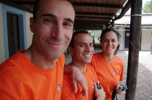 The ARXO team Vittorio, Sirio and Carla. Credits: ESA-C. Corongiu