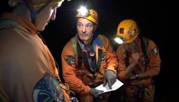 Cavenauts checking their data. Credits: ESA/V.Crobu