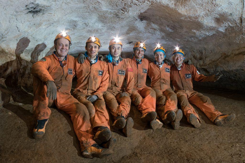 Cavenauts in Sos Jocos cave. Credits: ESA– V. Crobu