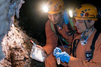 Guangfu and Pedro taking samples. Credits: ESA–V. Crobu