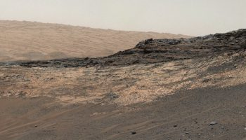 Curiosity rover panorama of sedimentary deposits at Gale crater, Mars. Credits: NASA/JPL/MSSS