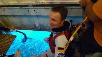 Matthias during NEEMO. Credits: NASA