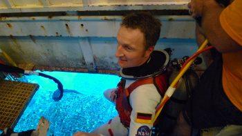 Matthias during NEEMO. Credits: NASA