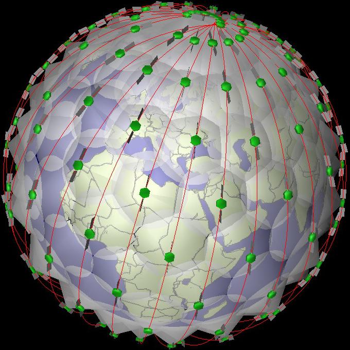 Mega Constellations - Image created with SaVi