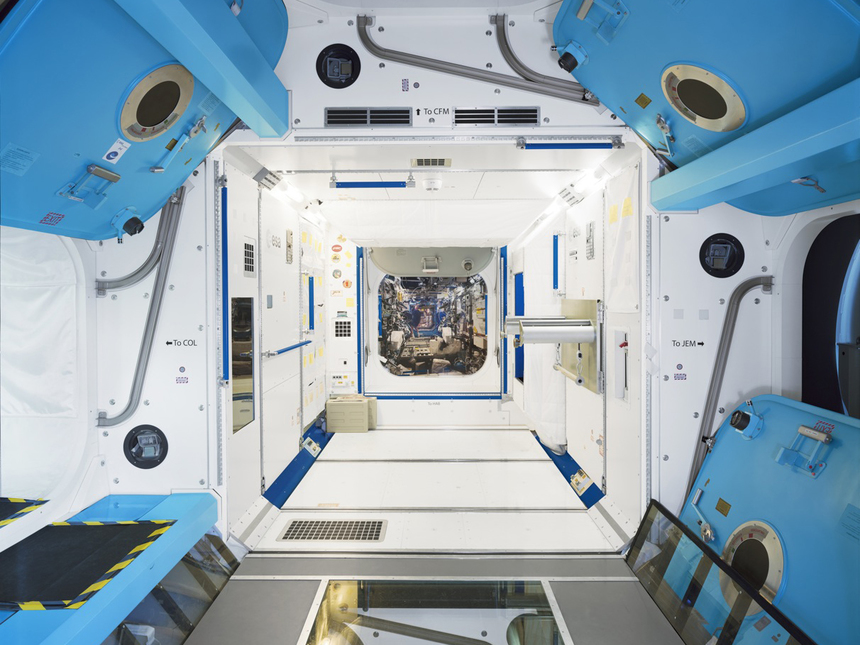 ESA Columbus ISS module Training Simulator, photographed by E. Martins.