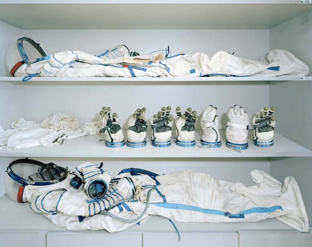 Space suits and gloves, photographed by Edgar Martins