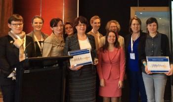 Jocelyne Landeau receives WIA Europe Outstanding Achievement award.