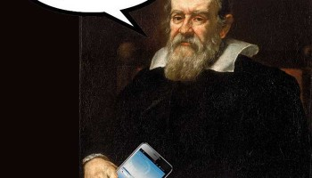 If Galileo had a smartphone ... Image credit: public domain