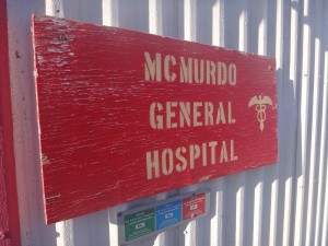 McMurdo general hospital sign