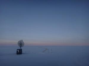 Satellite dish at Concordia