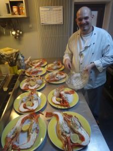 Giorgio presenting a dinner