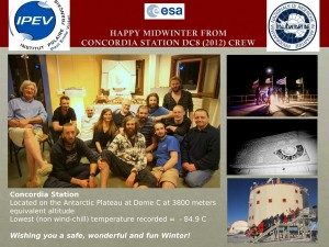 Happy midwinter from Concordia station DC8