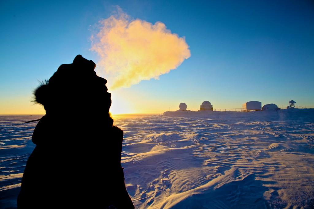 Breathing at -70 degrees celsius. Credits: ESA/IPEV/PNRA - A. Kumar